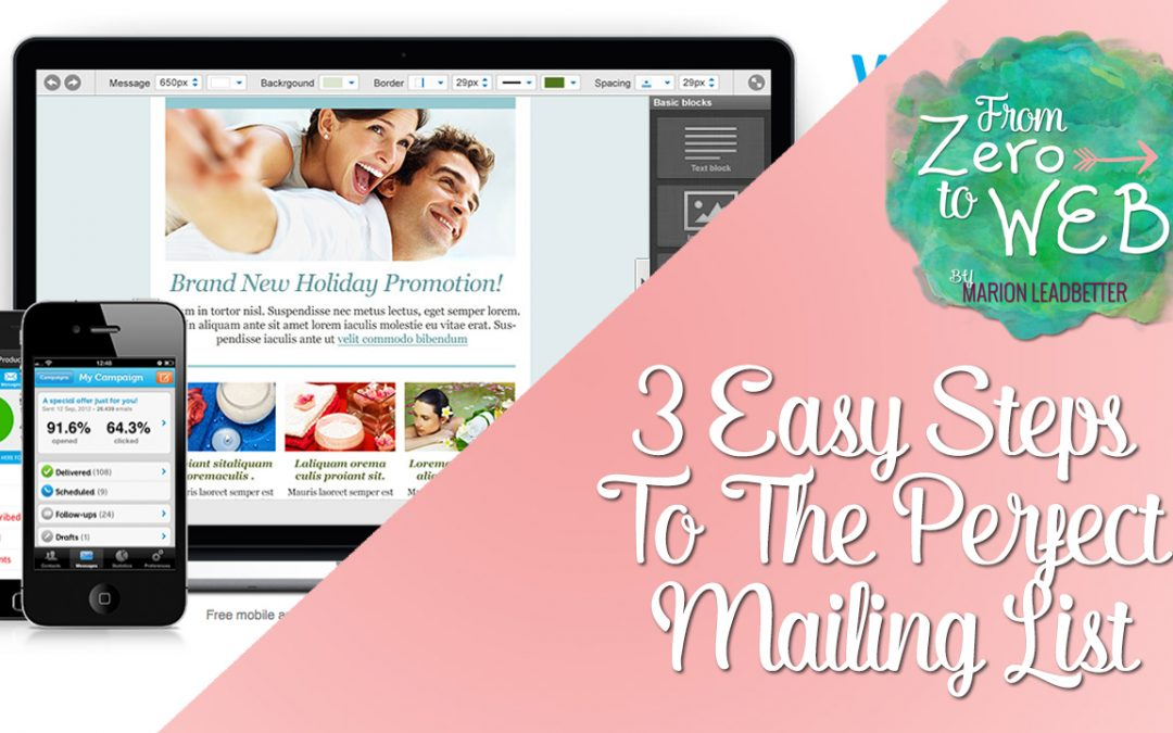TOP TIP TUESDAY: 3 Easy Steps To The Perfect Mailing List